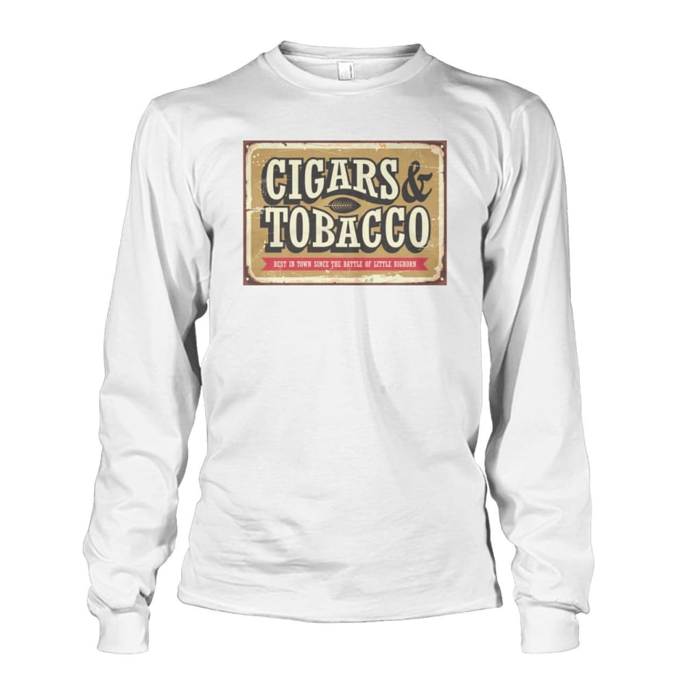Cigars and Tobacco - White / S - Long Sleeves