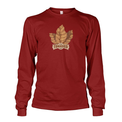 Fine Tobacco Long Sleeve - Cardinal Red / S - Long Sleeves
