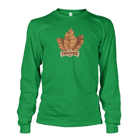 Image of Fine Tobacco Long Sleeve - Irish Green / S - Long Sleeves