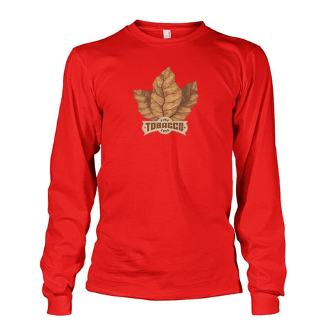 Fine Tobacco Long Sleeve - Red / S - Long Sleeves