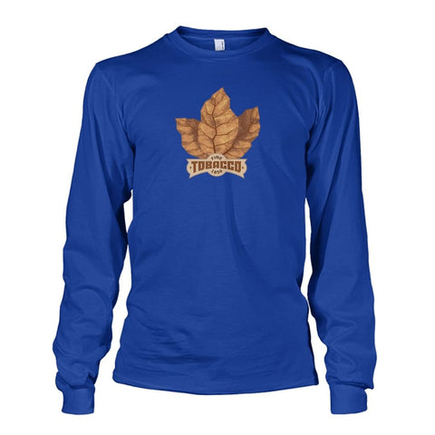 Image of Fine Tobacco Long Sleeve - Royal / S - Long Sleeves