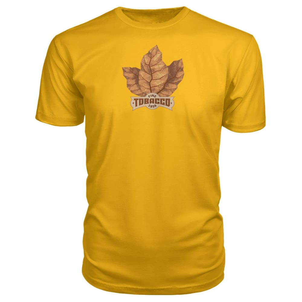 Fine Tobacco Premium Tee - Gold / S - Short Sleeves
