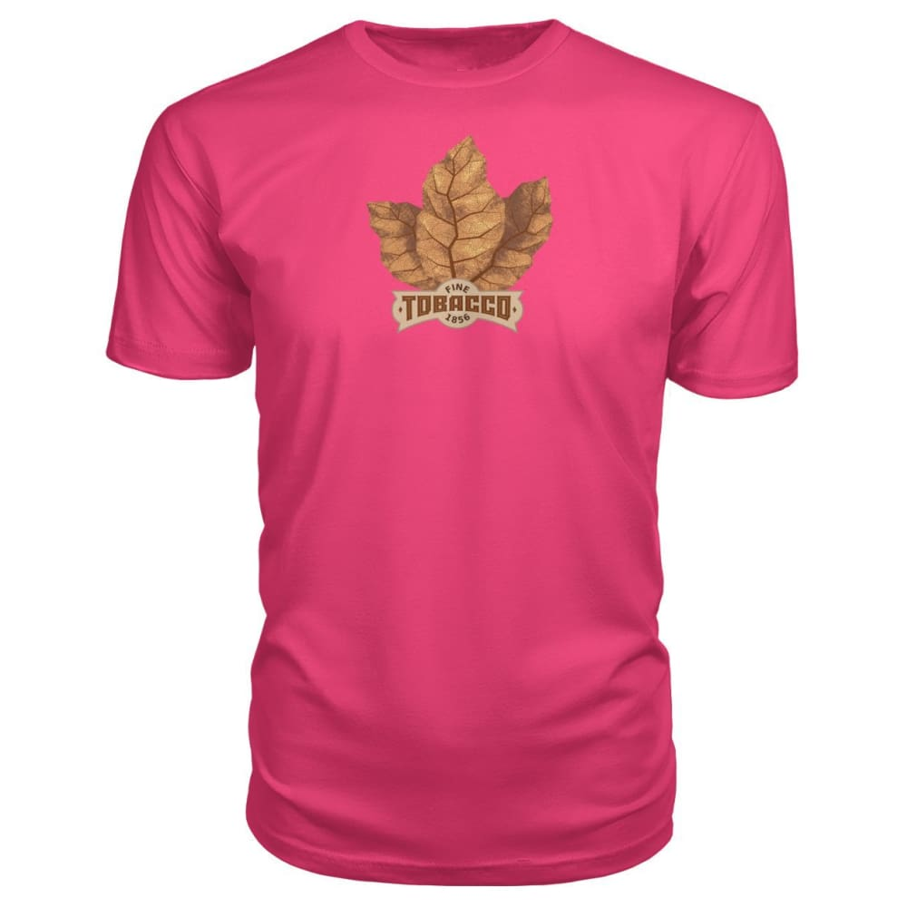 Fine Tobacco Premium Tee - Hot Pink / S - Short Sleeves
