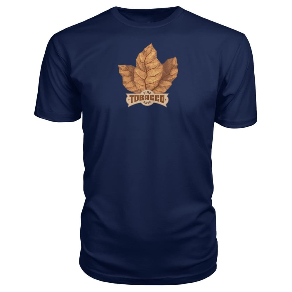 Fine Tobacco Premium Tee - Navy / S - Short Sleeves