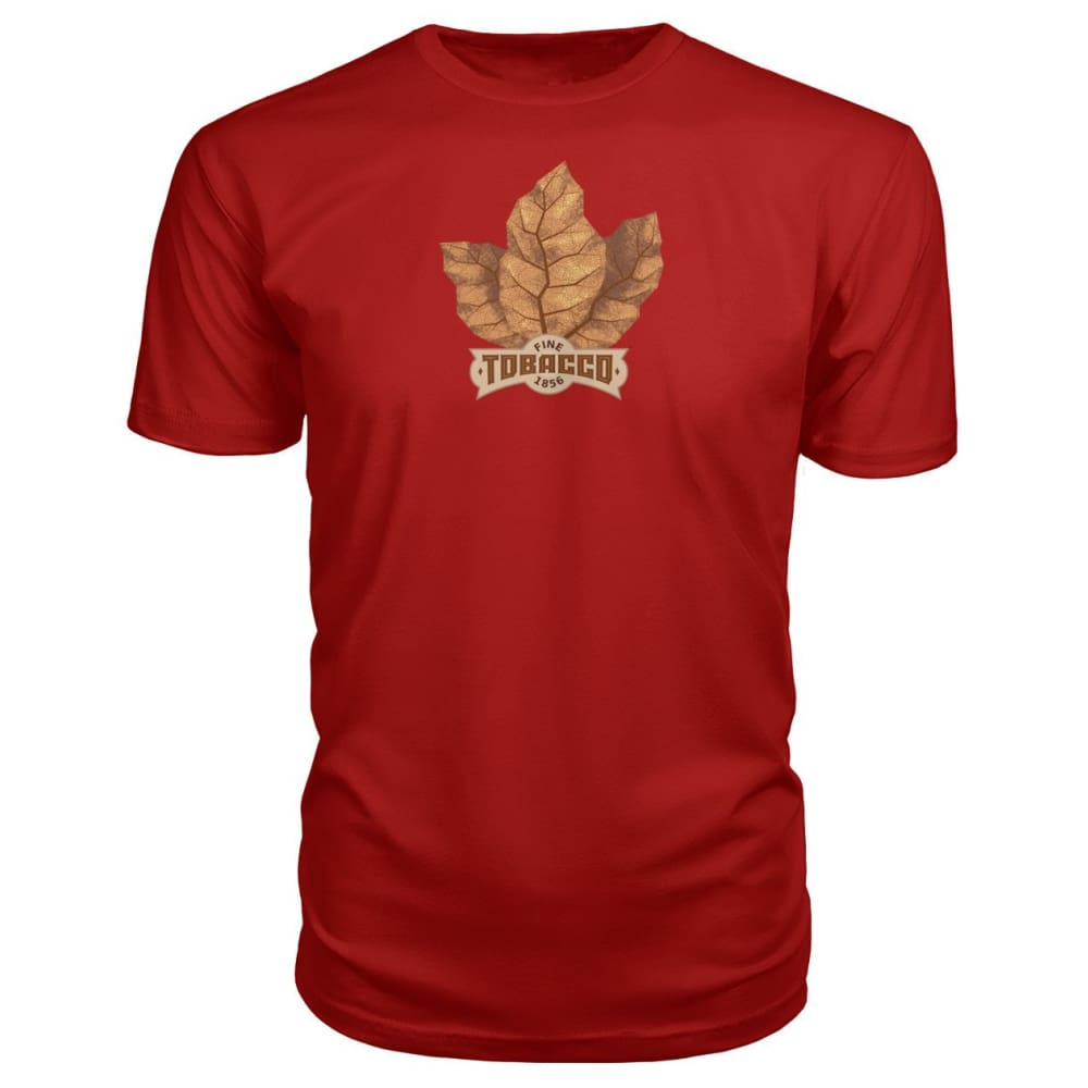 Fine Tobacco Premium Tee - Red / S - Short Sleeves