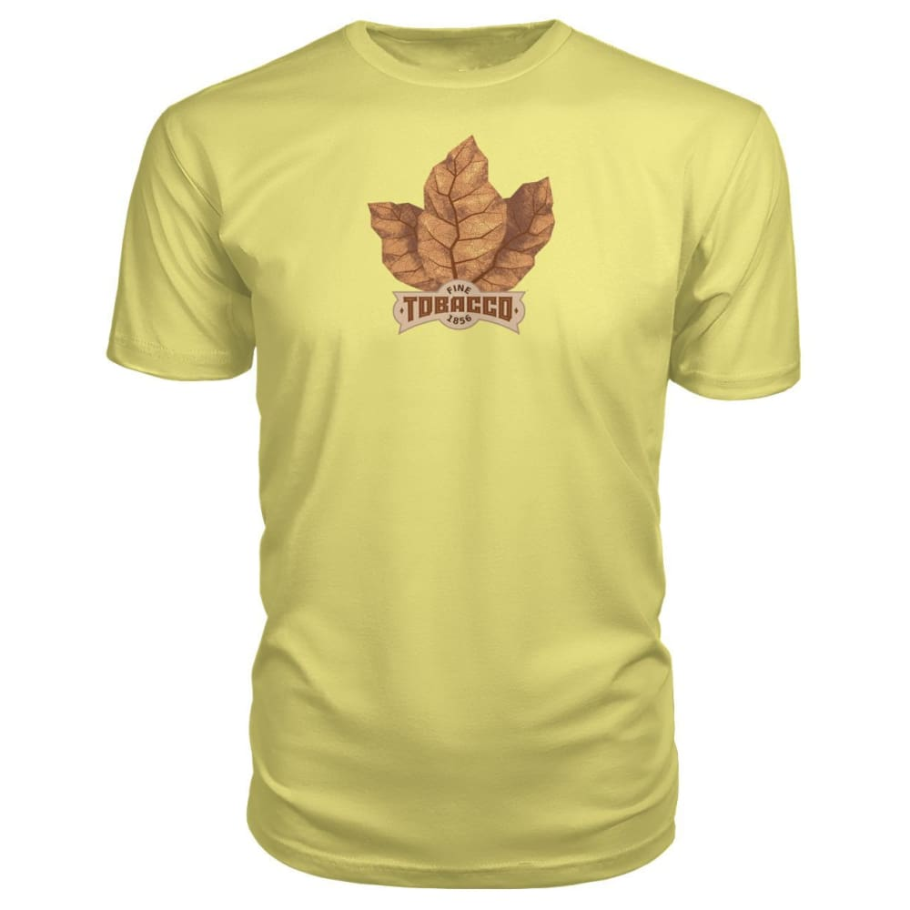 Fine Tobacco Premium Tee - Spring Yellow / S - Short Sleeves