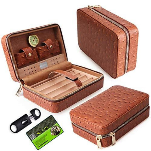 Leather Humidor Case