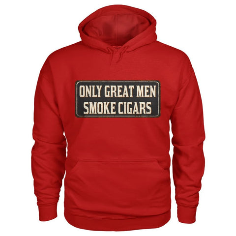 Only Great Men Hoodie - Cherry Red / S - Hoodies