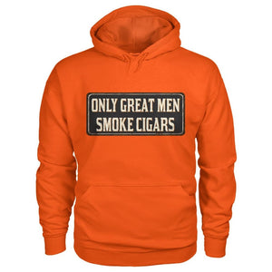 Only Great Men Hoodie - Orange / S - Hoodies