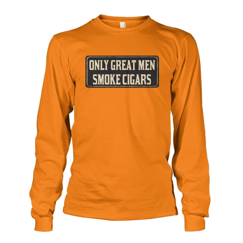 Only Great Men Long Sleeve - Safety Orange / S - Long Sleeves