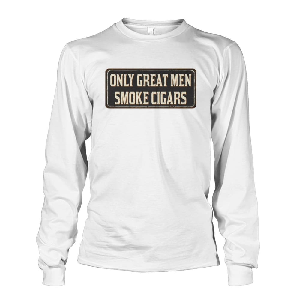 Only Great Men Long Sleeve - White / S - Long Sleeves