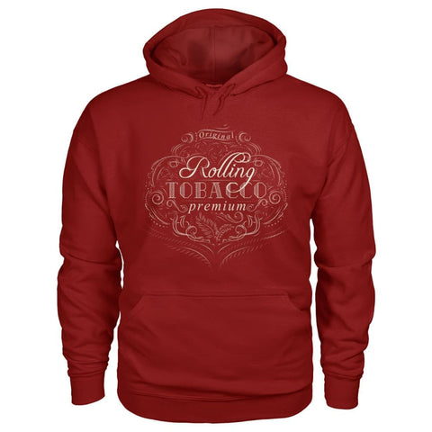 Image of Rolling Tobacco Hoodie - Cardinal Red / S - Hoodies