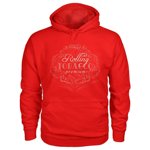 Image of Rolling Tobacco Hoodie - Red / S - Hoodies