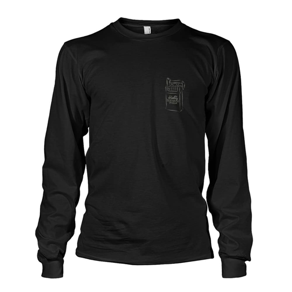 Rolling Tobacco Left Chest Long Sleeve - Black / S - Long Sleeves