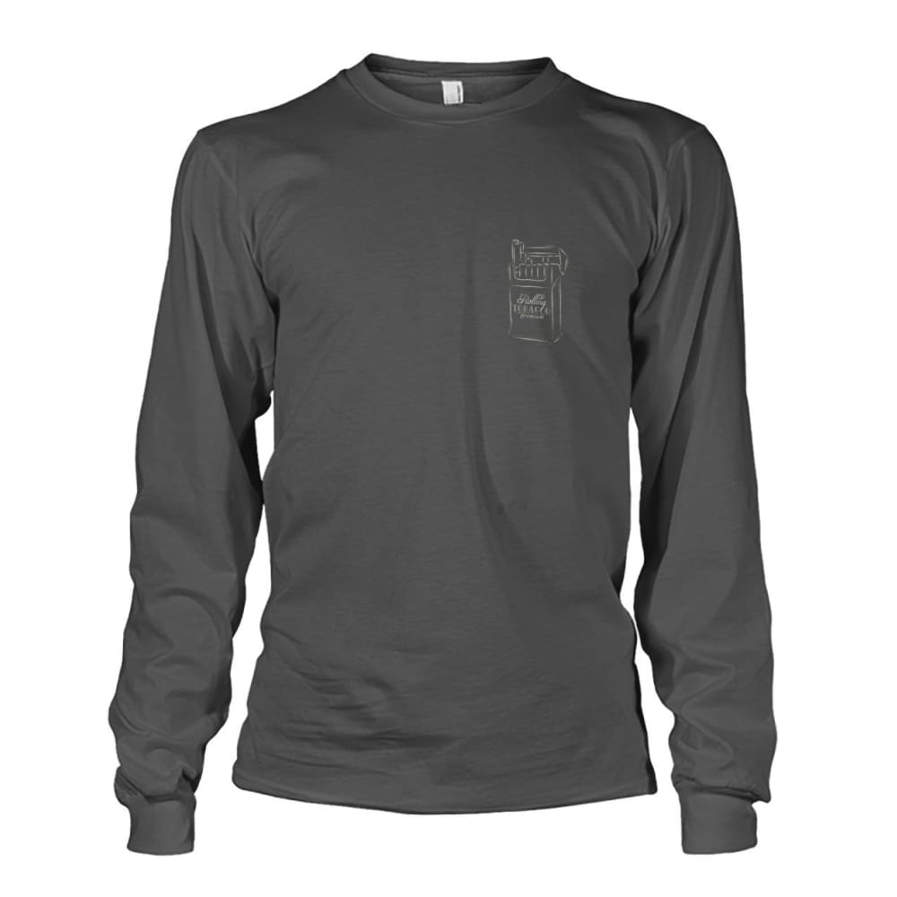 Rolling Tobacco Left Chest Long Sleeve - Charcoal / S - Long Sleeves