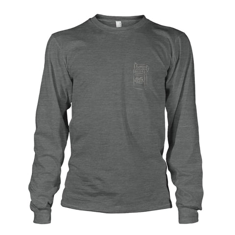 Rolling Tobacco Left Chest Long Sleeve - Dark Heather / S - Long Sleeves