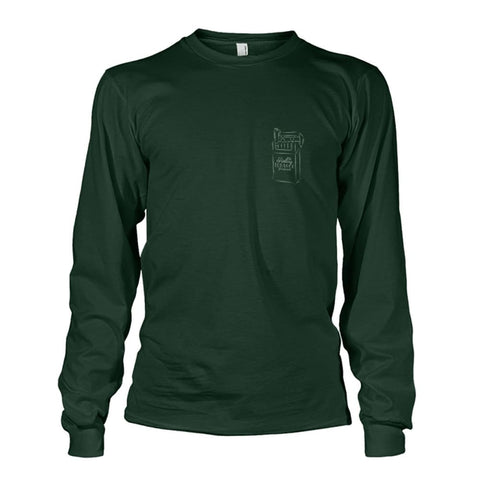 Rolling Tobacco Left Chest Long Sleeve - Forest Green / S - Long Sleeves