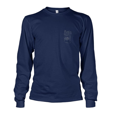 Rolling Tobacco Left Chest Long Sleeve - Navy / S - Long Sleeves