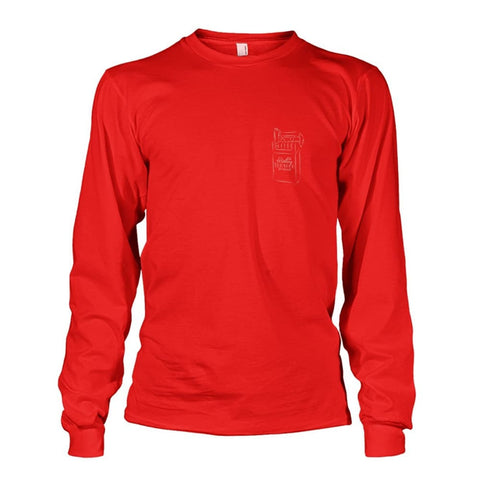 Rolling Tobacco Left Chest Long Sleeve - Red / S - Long Sleeves