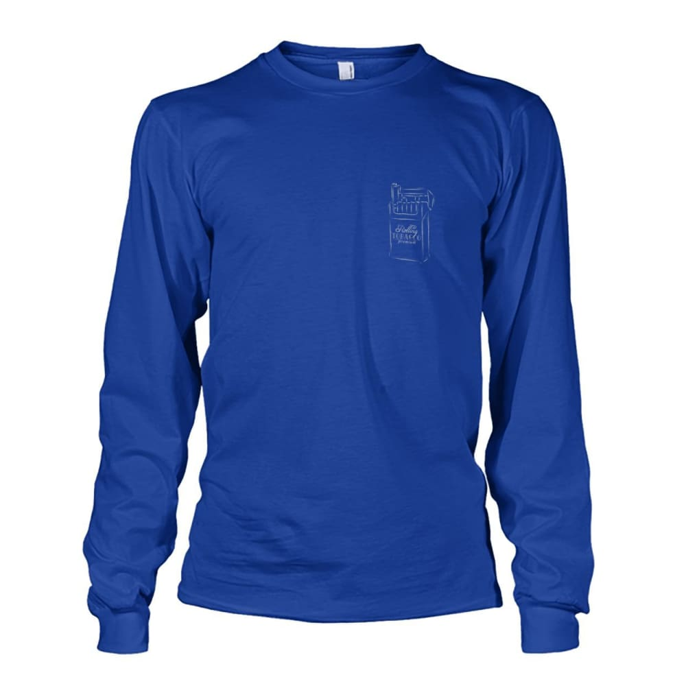 Rolling Tobacco Left Chest Long Sleeve - Royal / S - Long Sleeves
