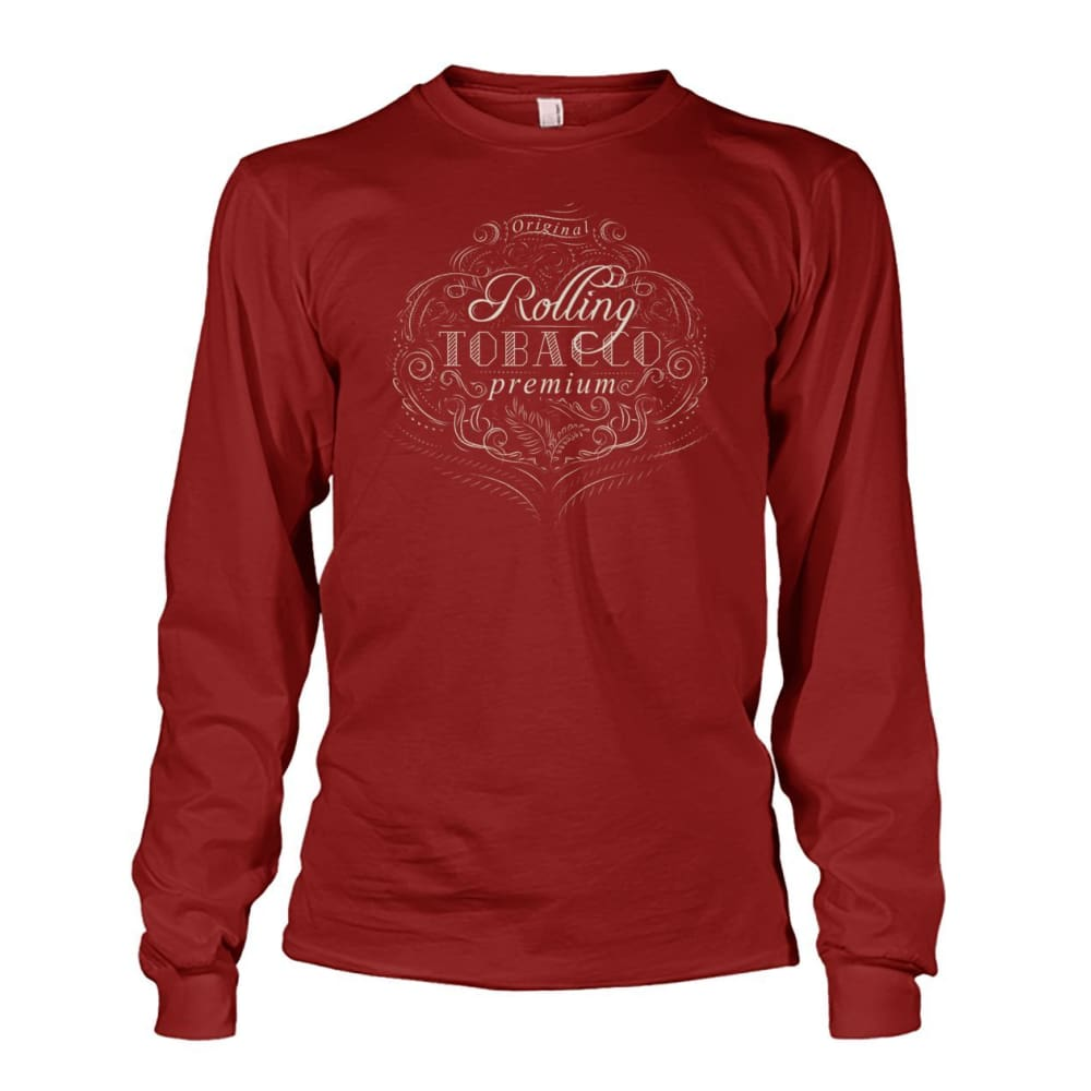 Rolling Tobacco Long Sleeve - Cardinal Red / S - Long Sleeves
