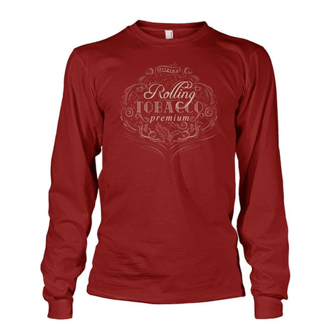 Image of Rolling Tobacco Long Sleeve - Cardinal Red / S - Long Sleeves