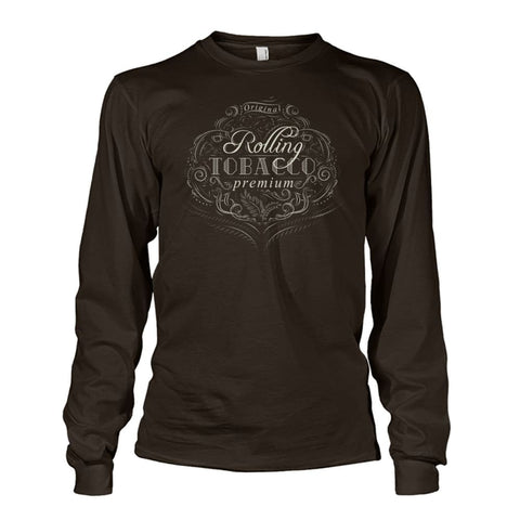 Image of Rolling Tobacco Long Sleeve - Dark Chocolate / S - Long Sleeves