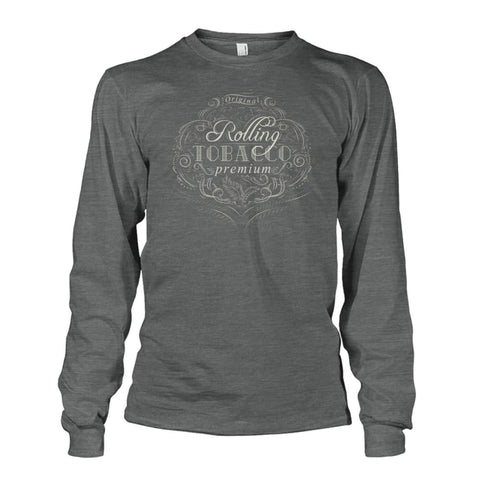 Image of Rolling Tobacco Long Sleeve - Dark Heather / S - Long Sleeves