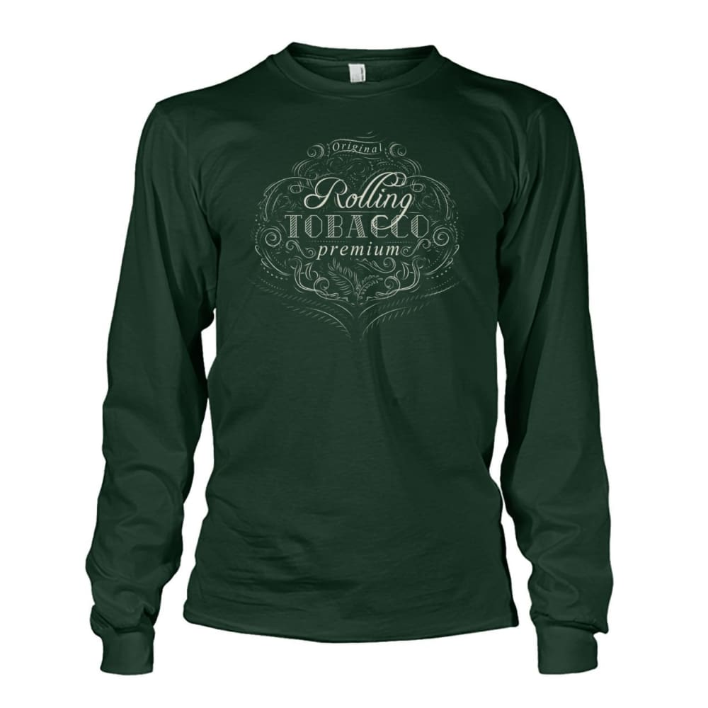 Rolling Tobacco Long Sleeve - Forest Green / S - Long Sleeves