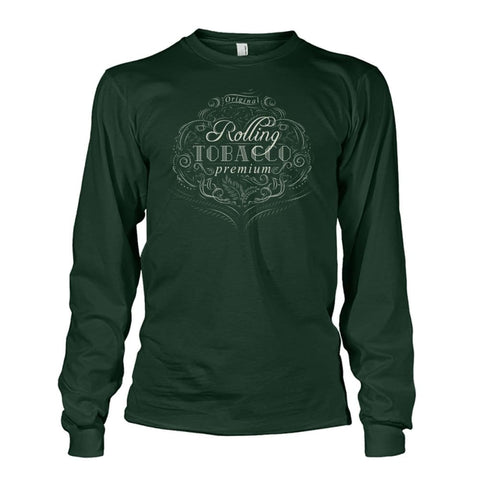 Image of Rolling Tobacco Long Sleeve - Forest Green / S - Long Sleeves