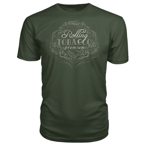 Rolling Tobacco Premium Tee - City Green / S - Short Sleeves