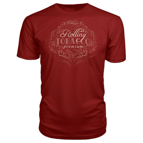 Rolling Tobacco Premium Tee - Independence Red / S - Short Sleeves