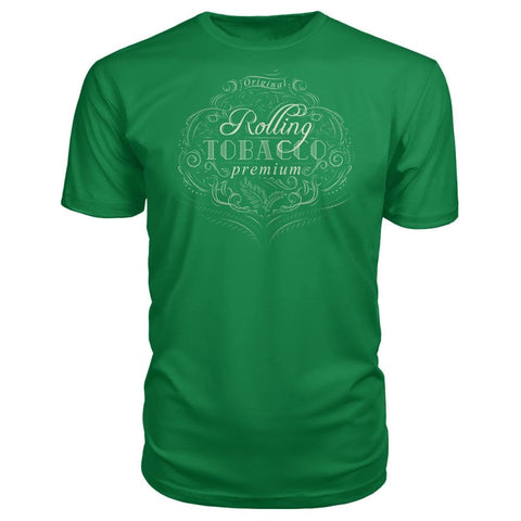 Image of Rolling Tobacco Premium Tee - Kelly Green / S - Short Sleeves