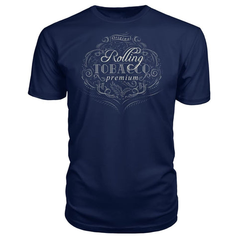 Rolling Tobacco Premium Tee - Navy / S - Short Sleeves