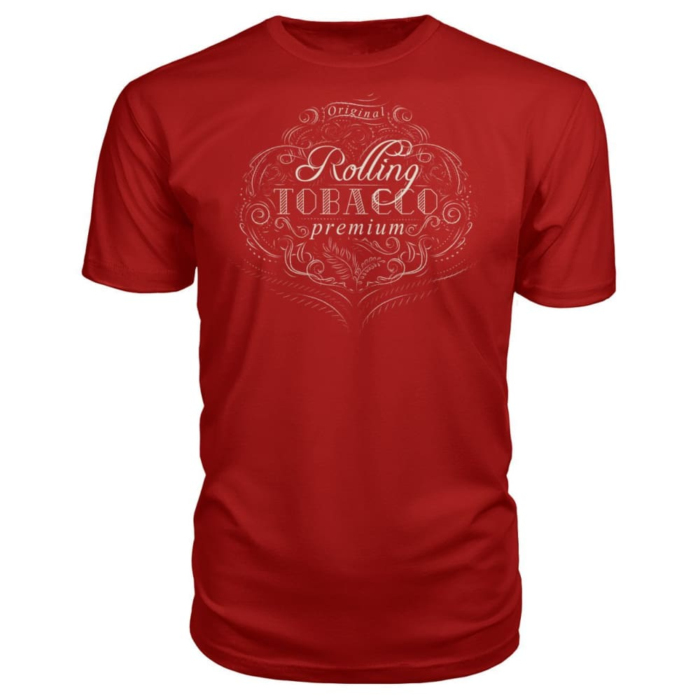 Rolling Tobacco Premium Tee - Red / S - Short Sleeves