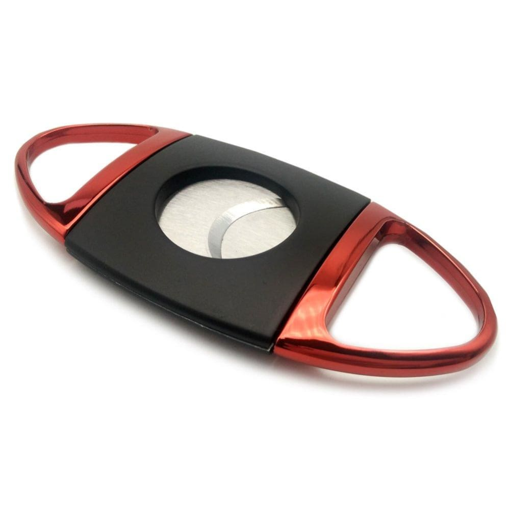 Stainless Steel Cigar Cutter - black&red