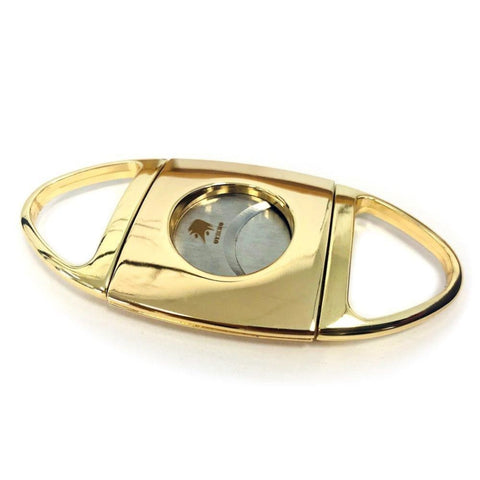 Image of Stainless Steel Cigar Cutter - Gold