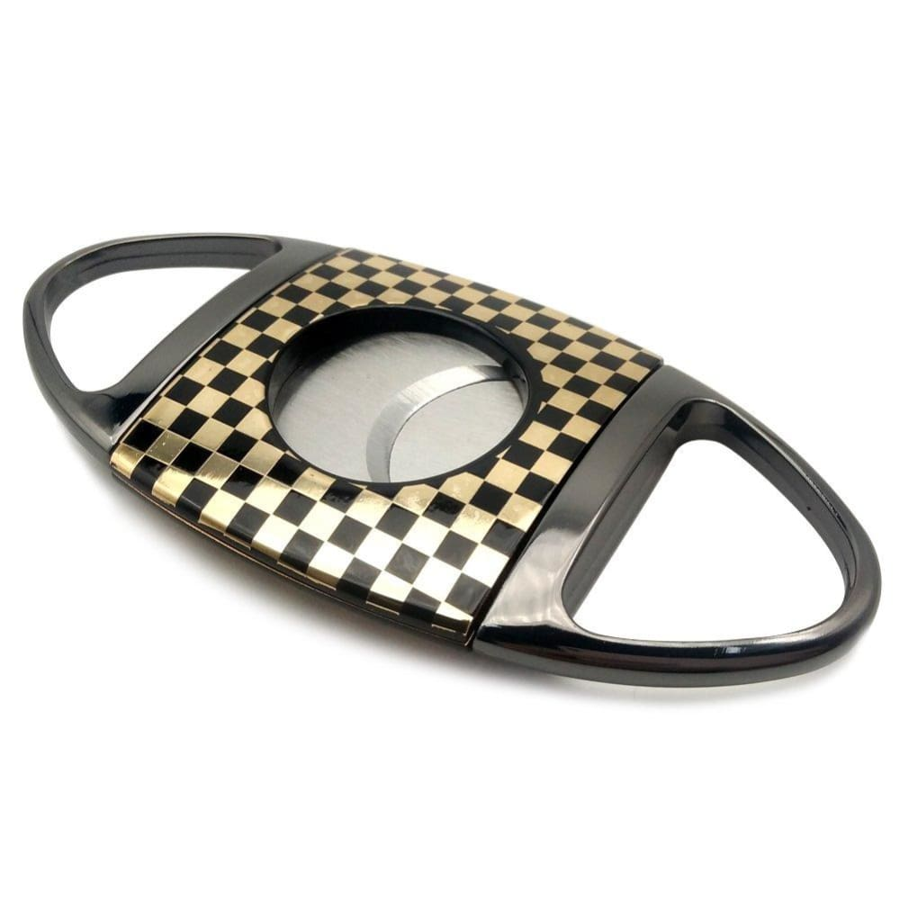 Stainless Steel Cigar Cutter - gold&black