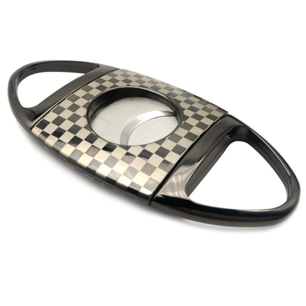 Stainless Steel Cigar Cutter - silver&black