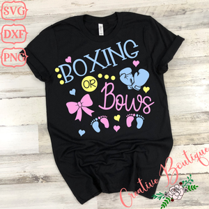 Boxing or Bows - Gender Reveal