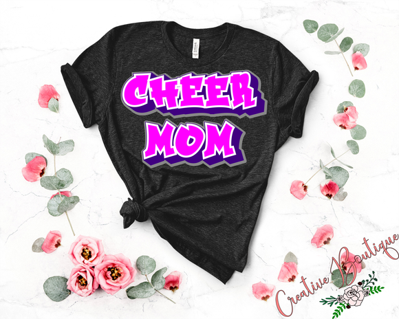 Cheer Mom - Graffiti Style
