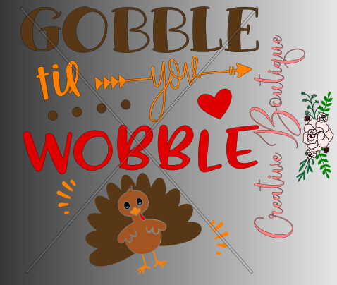Halloween and Fall - Gobble til you Wobble
