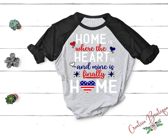 Home is Where the Heart is - Red White Blue