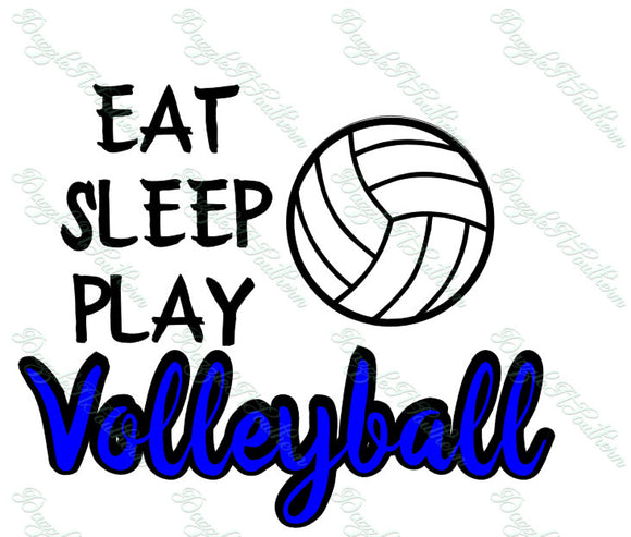 Eat Sleep Play Volleyball Ball Court Volley SVG PNG DXF eps cut cutting file vector decal Cricut Silhouette Cameo Explore Team Season Spike