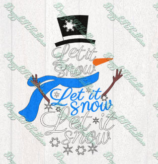 Let It Snow Snowman winter Christmas SVG DXF PNG eps cutting file cut image vector iron on shirt Cricut Silhouette holiday