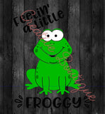 Feeling feelin a little froggy frog 2 versions included bug tongue cute shirt SVG vector image Silhouette Cricut cutting cut file