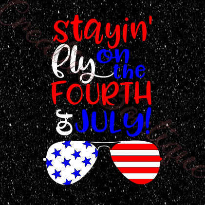Happy 4th fourth of July sunglasses fly SVG stars stripes arrow fireworks image vector Cricut Silhouette vector image