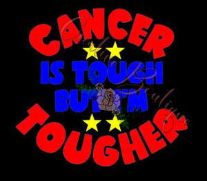 Cancer is tough but I'm tougher SVG file Cricut Silhouette cut cutting vector image
