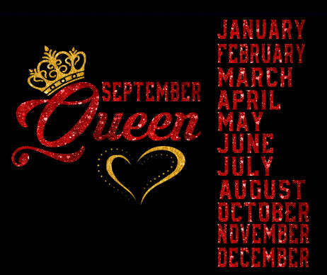 Queen birthday crown tiara all months SVG cutting file for shirt Silhouette Cricut vector image