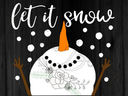 Christmas let it snow snowman